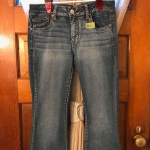 Two American Eagle Boho Artist Jeans Size 10 Short
